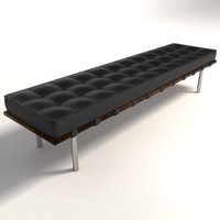Mies Van Der Rohe Barcelona Bench Large