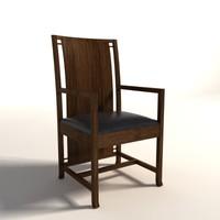 Frank Lloyd Wright Boynton Armchair