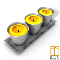 free candlestick candles 3d model