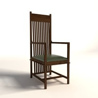 Frank Lloyd Wright Dana Thomas Armchair