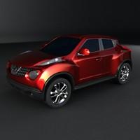 crossover nissan juke 3d model