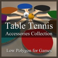 Low Polygon Table Tennis Accessories Collection