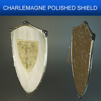Charlemagne Polished Shield