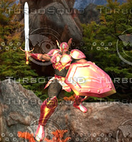 dragon knight man 3d obj