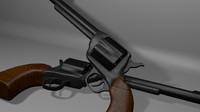 gun revolvers 3d model