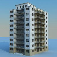 residential building cityscape 3d model