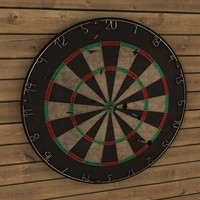 dartboard dart 3d model