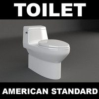 toilet modelled 3d model