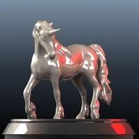 unicorn horse 3d model
