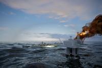 Sea attack scene