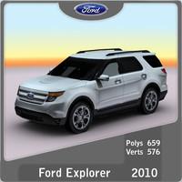 2011 explorer 3d model