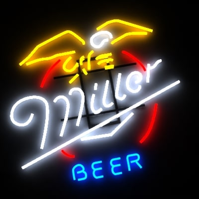 14 neon signs 3d model - 14 BAR neon signs... by morihuela