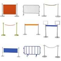 3d stand barriers model