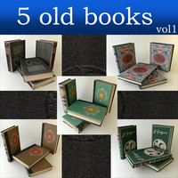 books 5 old 3d model