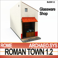 Roman Town: Glassware Shop 1.2 [Lo-Poly]