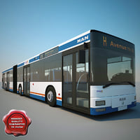 articulated bus man ng313 3d model