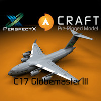 pre-rigged c-17 globemaster craft 3ds