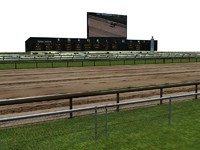 horse racetrack 3d model
