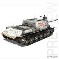 3d isu-122 - soviet self-propelled model