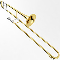 trombone instrument brass 3d model