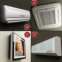 wall mounted air conditioners 3d model