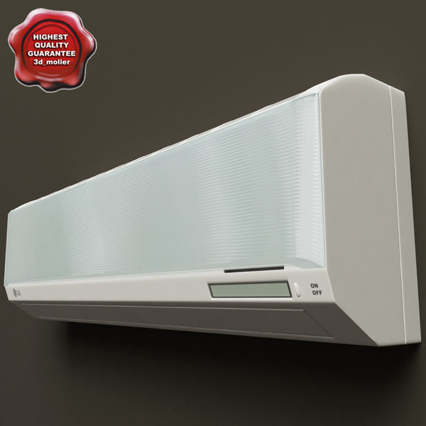 Mitsubishi Room Air Conditioner Reviews: Wall Mounted Air Conditioners 3d Model