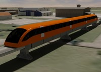 German Transrapid Magnetic Levitation High-Speed Monorail Train