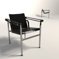 le corbusier lc1 basculant 3d model