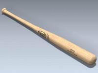 3d model baseball bat