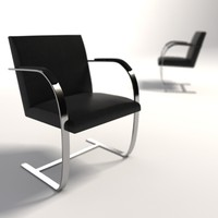 Mies Van Der Rohe Brno Flat Bar Chair