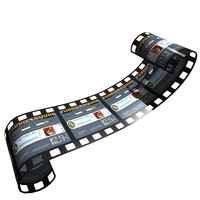 film strip 3d model