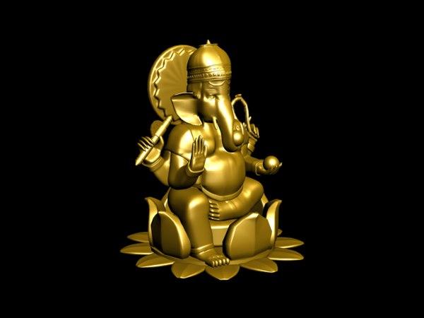 3d Lord Ganesha: 3D Max Ganesh Lord Ganesha