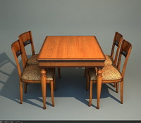 Le Fablier - table and chair