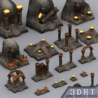3DRT-Dungeon_Altars_pack-ver.1.0