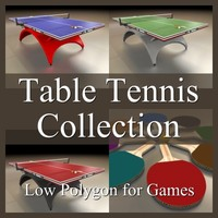 Low Polygon Table Tennis Collection