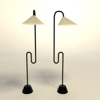 eileen gray roattino floor lamp 3d model