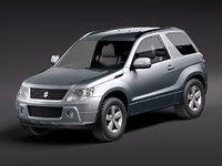 suzuki grand vitara 3door 3d model