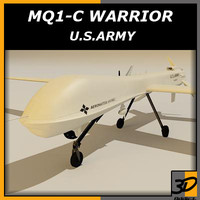 general mq-1c warrior 3d model