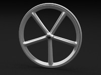 bicycle wheel cycle 3d model