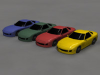 LowPoly RX7