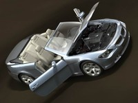 bmw 6 2004 cabrio 3d model