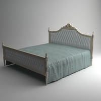 qualitative classical bed interior 3d model