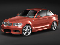 bmw 1 coupe 2008 3d model
