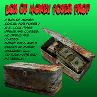 box poser money 3d model