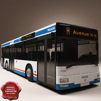 realistic bus man ng313 3d model