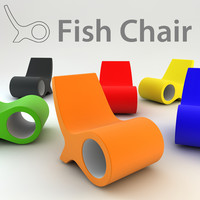 cappellini fish chair 3d model