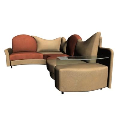 3d Model Divan Sofa