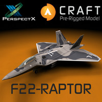 F-22 Raptor Pre-Rigged for Craft Director Studio