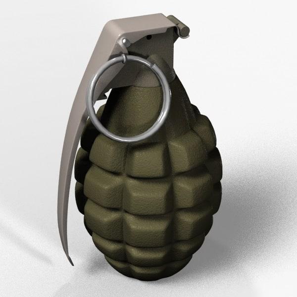 hand grenade 3d model. Black Bedroom Furniture Sets. Home Design Ideas