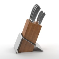 kitchen knives 3d model